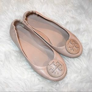 Tory Burch Ballet Pink Leather Flats